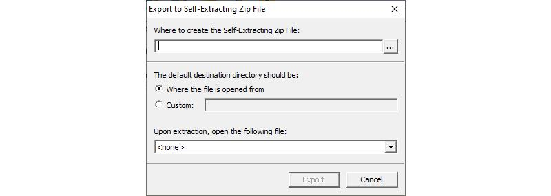 Image of Create Self Extracting Zip